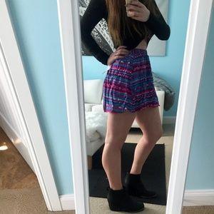 Color Pattern Forever 21 Skirt